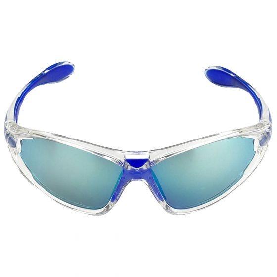 Swiss Eye Lunettes de soleil Constance à verres fumés BW Revo/orange/transparents et monture Crystal Blue