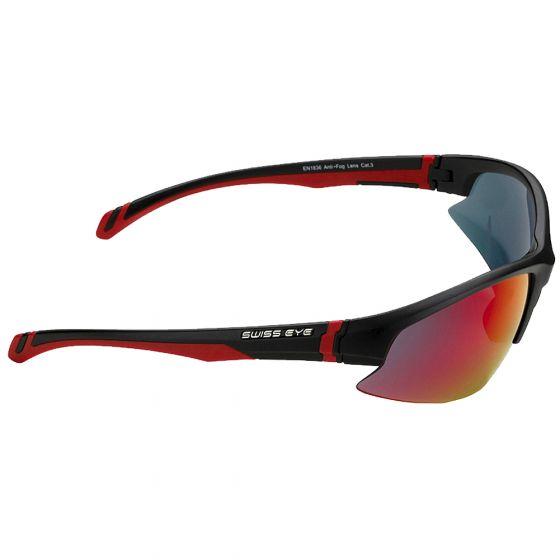 Swiss Eye Lunettes de soleil Flash avec verres fumés BR Revo orange/transparents et monture noire mate