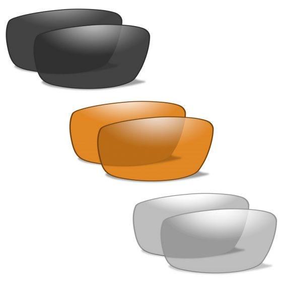 Wiley X Lunettes XL-1 Advanced avec verres couleur gris fumé + transparents + orangés et monture noire mate