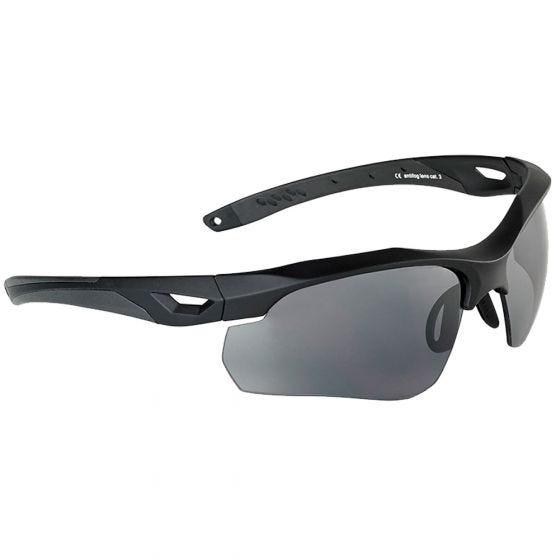 Swiss Eye Lunettes de soleil Skyray avec verres fumés/transparents et monture noire en caoutchouc