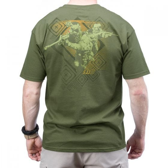 5.11 Red Scope Logo T-Shirt OD Green            DISC
