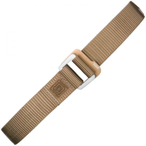 5.11 Traverse Double Buckle Belt Battle Brown