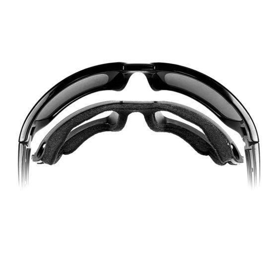 Wiley X Lunettes Airrage Black Ops avec verres couleur gris fumé et monture noire mate