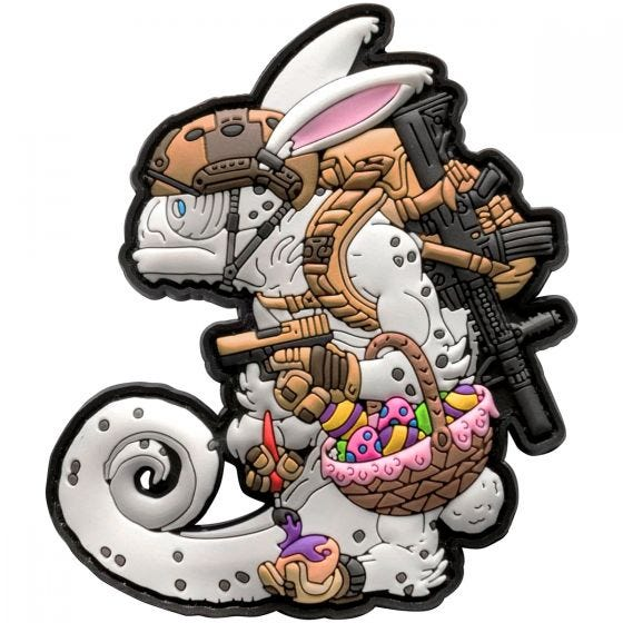 Patchlab Écusson Chameleon Easter Operator blanc/Coyote