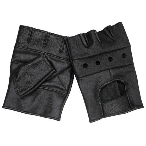 MFH Gants de qualité en cuir noir