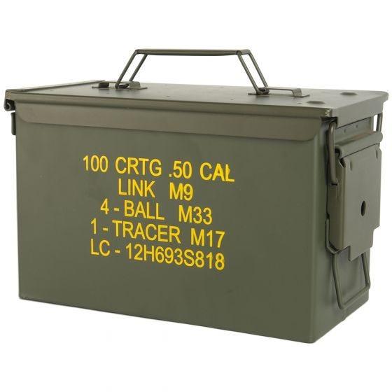 Mil-Tec Boîte à munitions US M2A1 Cal,50 vert olive