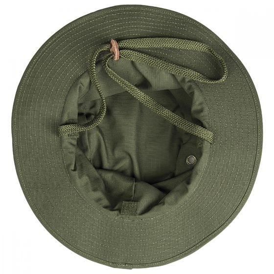 Teesar British Boonie Hat with Neck Flap Ripstop Olive
