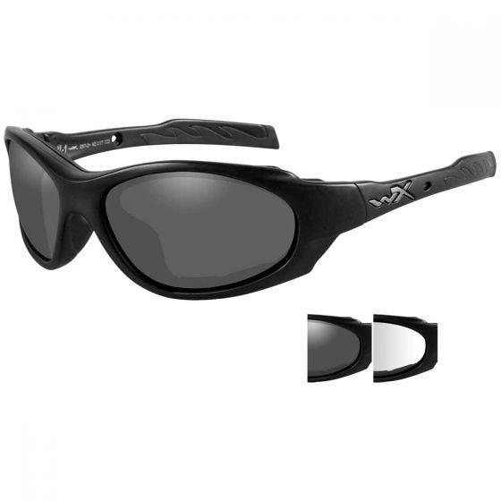 Wiley X Lunettes XL-1 Advanced avec verres transparents + verres gris fumé et monture noire