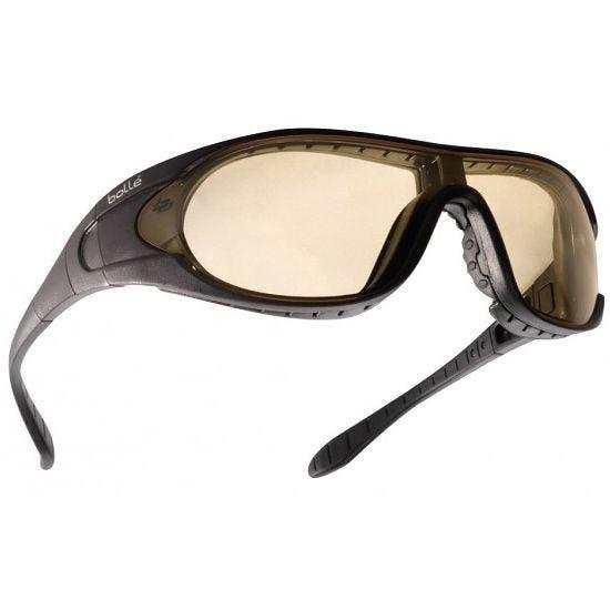 Bolle Lunettes balistiques Raider - verres transparents + fumés + jaunes/monture noire