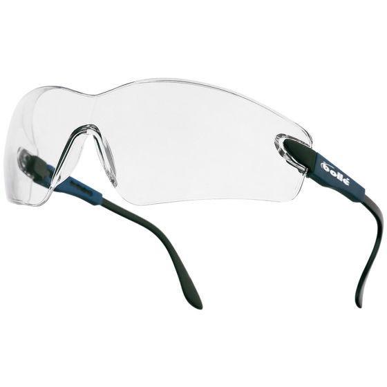 Bolle Lunettes Viper II - verres transparents/monture bleue électrique