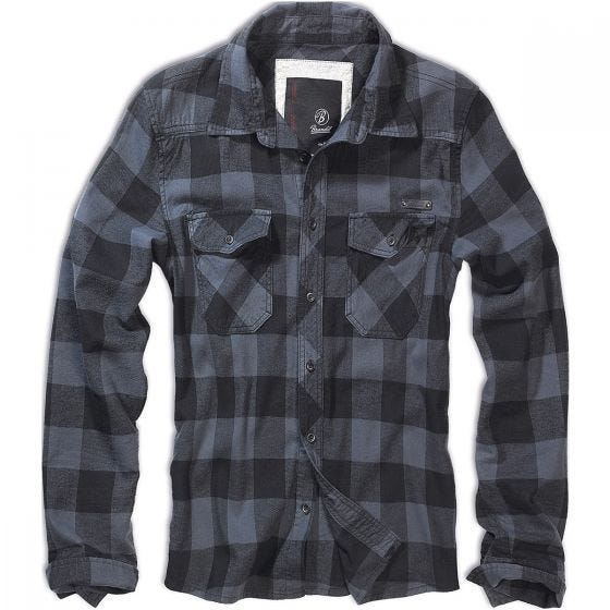Brandit T-shirt Check noir/gris