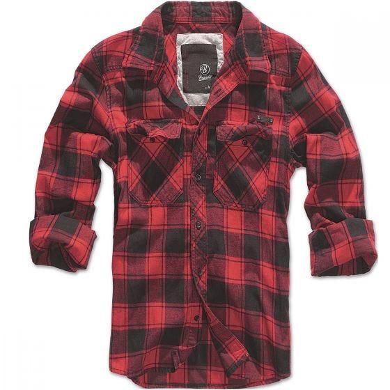 Brandit T-shirt Check rouge/noir