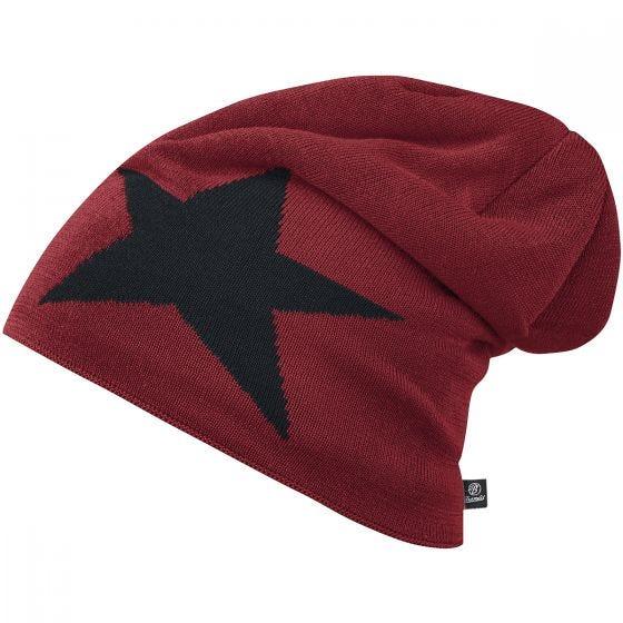 Brandit Bonnet Star Cap bordeaux