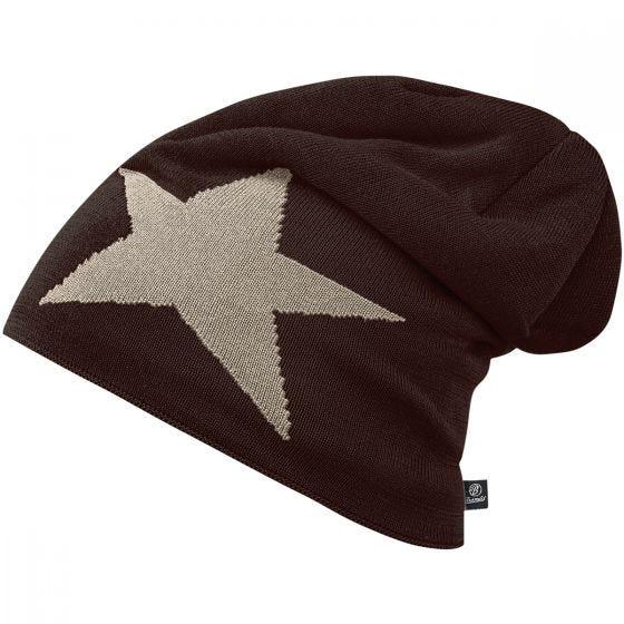Brandit Bonnet Star Cap marron chocolat
