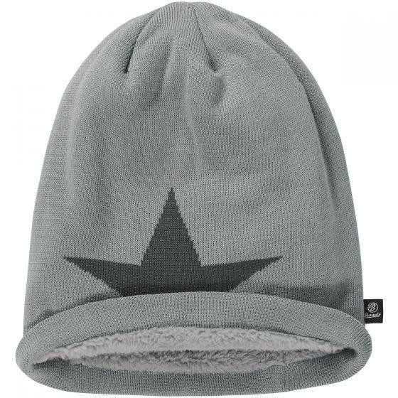 Brandit Bonnet Star Cap gris chiné