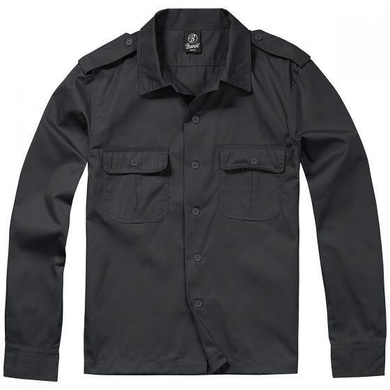 Brandit T-Shirt à manches longues US noir