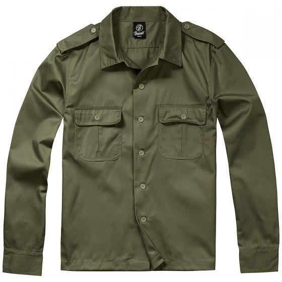Brandit T-Shirt à manches longues US vert olive