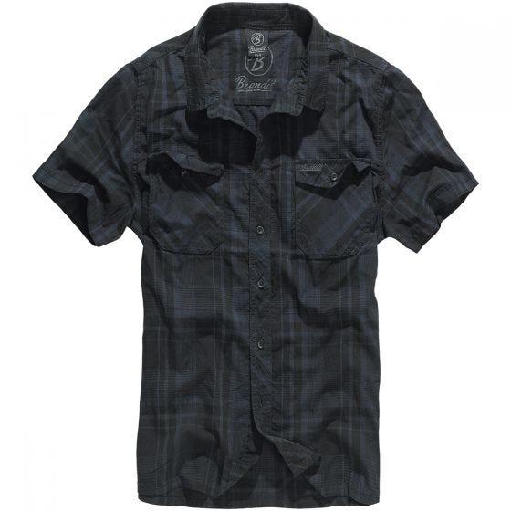Brandit Chemise Roadstar noire/bleue