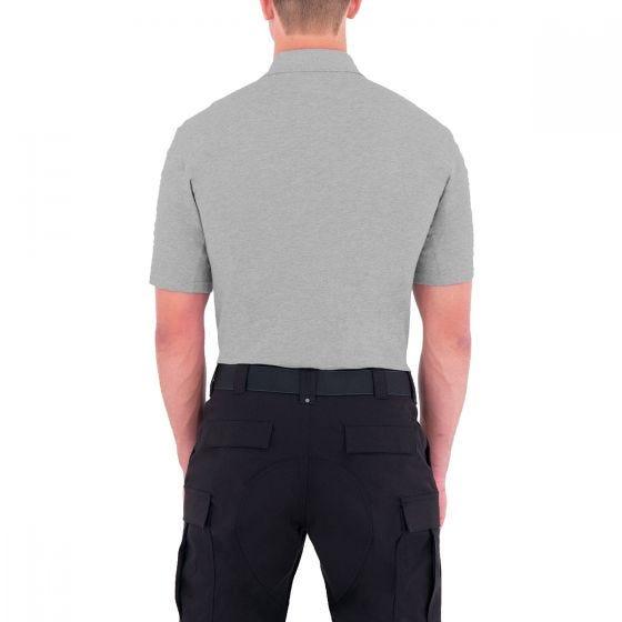 First Tactical Polo homme à manches courtes en coton avec poche pour stylo Heather Grey