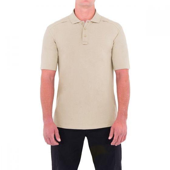 First Tactical Polo homme à manches courtes en coton avec poche pour stylo kaki