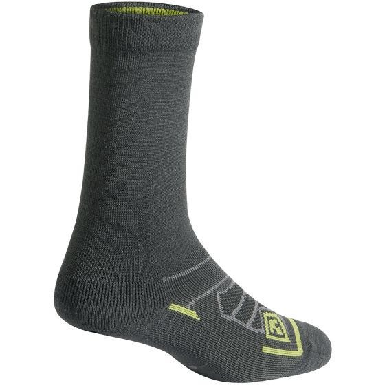 """First Tactical Chaussettes All Season 6"""" laine mérinos Charcoal"""