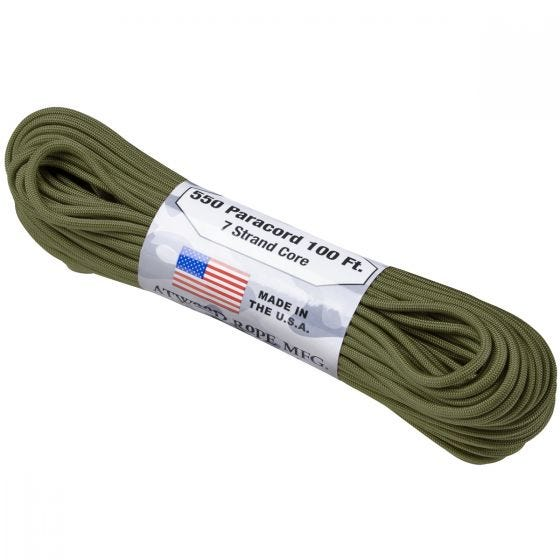 Atwood Paracorde Rope 550 lbs Olive Green