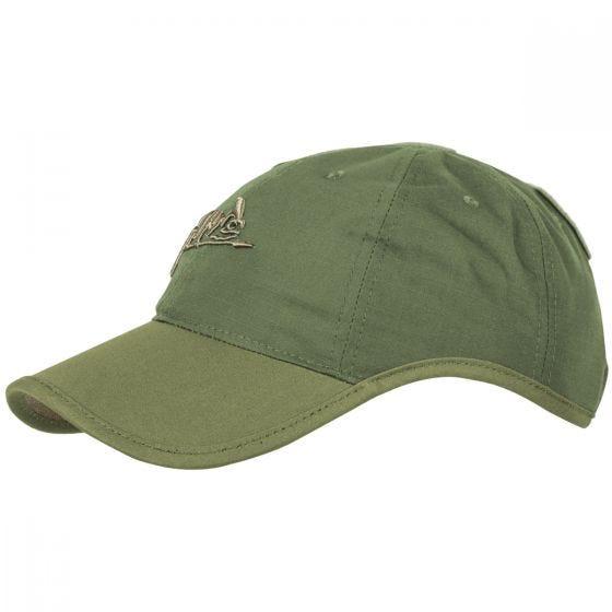 Helikon Logo Cap Polycotton Ripstop Olive Green / Adaptive Green