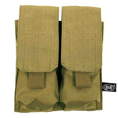 MFH Porte-chargeur double M4/M16 MOLLE Coyote