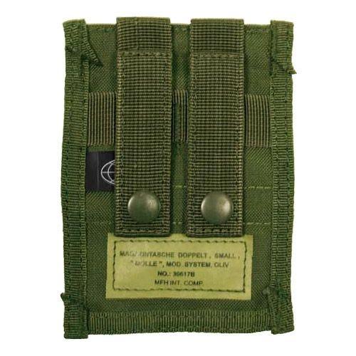 MFH Petit porte-chargeur double 9 mm MOLLE vert olive