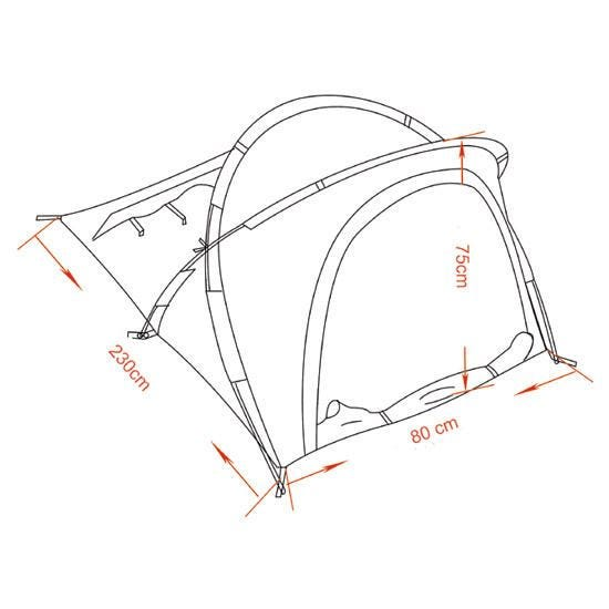 MFH Tente Osser avec structure en aluminium OD Green