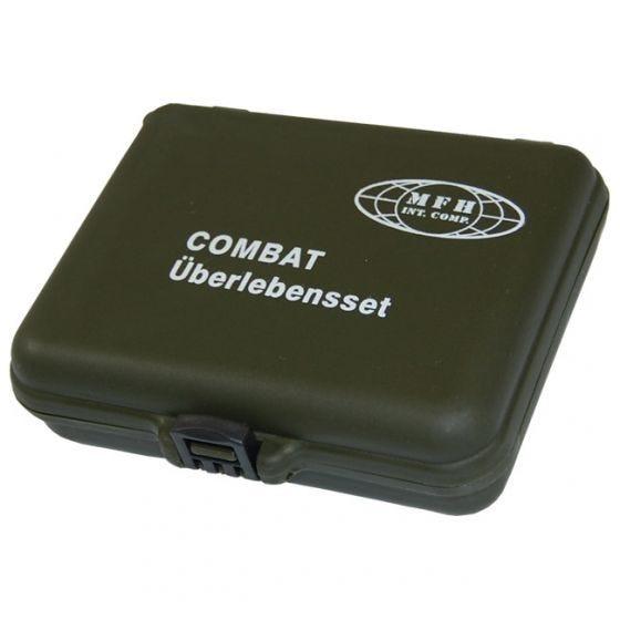 MFH Kit de survie militaire (étui en plastique)