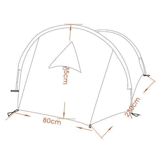 MFH Tente Arber avec structure en aluminium Flecktarn