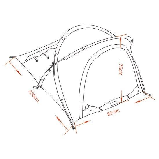 MFH Tente Osser avec structure en aluminium Flecktarn