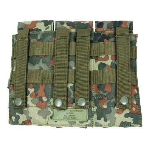 MFH Porte-chargeur triple M4/M16 MOLLE Flecktarn