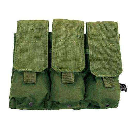 MFH Porte-chargeur triple M4/M16 MOLLE vert olive