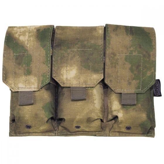 MFH Porte-chargeur triple M4/M16 MOLLE HDT Camo FG