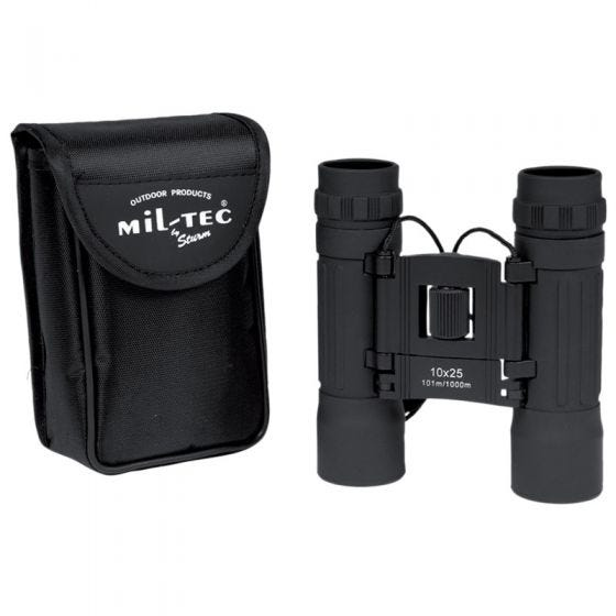 Mil-Tec Jumelles pliables 10x25 noires