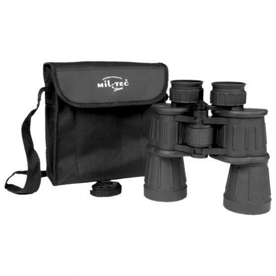 Mil-Tec Jumelles 7x50 avec revêtement en caoutchouc noires