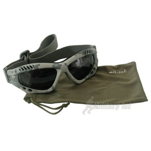 Mil-Tec Lunettes de protection à verres fumés Commando Air Pro ACU Digital