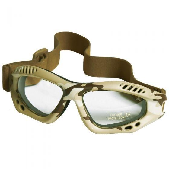 Mil-Tec Lunettes de protection à verres transparents Commando Air Pro Desert