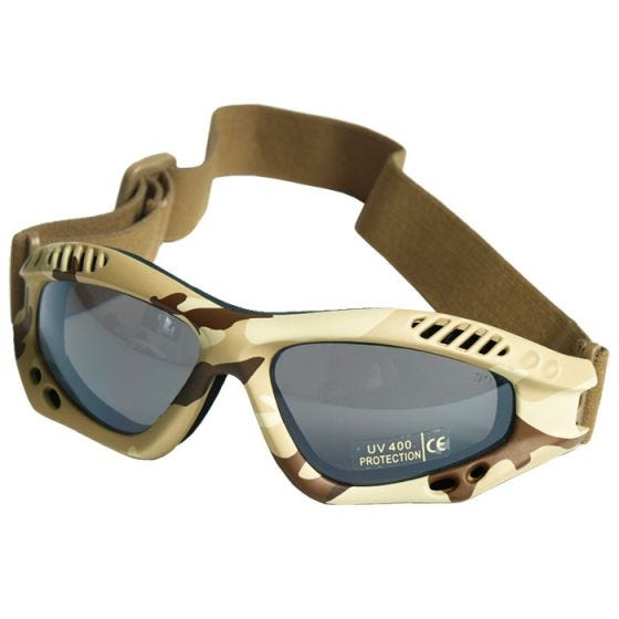 Mil-Tec Lunettes de protection à verres fumés Commando Air Pro Desert