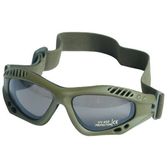 Mil-Tec Lunettes de protection à verres fumés Commando Air Pro vert olive