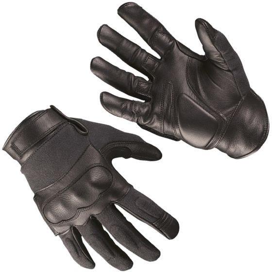 Mil-Tec Gants tactiques en cuir et kevlar noirs