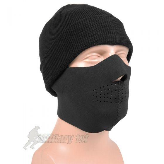 Mil-Tec Demi-masque en néoprène noir