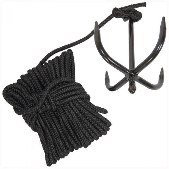 Mil-Tec Grappin avec corde noir