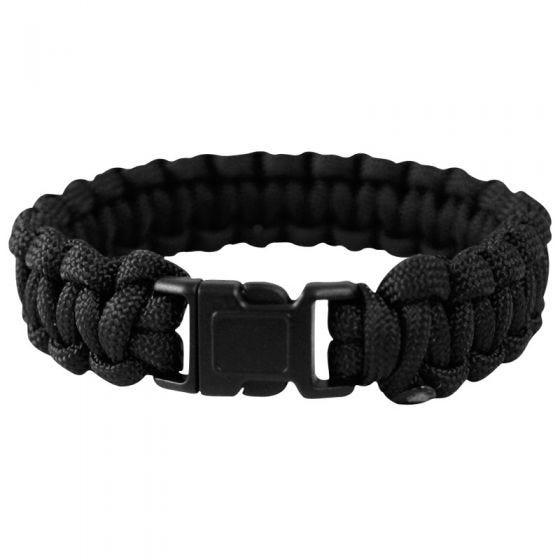 Mil-Tec Bracelet paracorde 22 mm noir