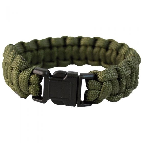 Mil-Tec Bracelet paracorde 22 mm vert olive