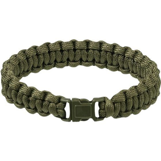 Mil-Tec Bracelet paracorde 15 mm vert olive