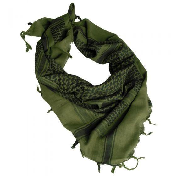 Mil-Tec Écharpe Shemagh vert olive/noire