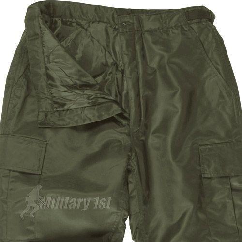 Mil-Tec Pantalon thermique US MA1 vert olive